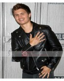 Baby Driver Ansel Elgort Leather Jacket