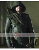 Arrow Stephen Amell Costume Leather Jacket