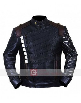 Avengers Infinity War Sebastian Stan Leather Jacket