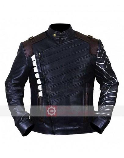 Avengers Infinity War Sebastian Stan Leather Jacket