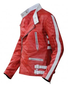 Axl Rose Red Costume Leather jacket