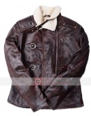 BJ Blazkowicz William Wolfenstein Brown Fur Collar Leather Jackets