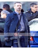 Baby Driver Jon Hamm (Buddy) Blue Cotton Coat