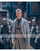 Ben Mendelsohn Robin Hood Sheriff of Nottingham Grey Leather Trench Coat