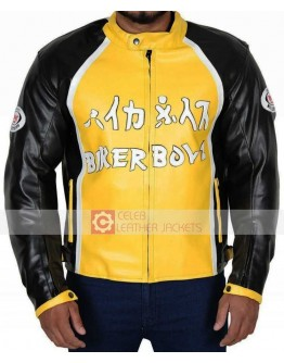 Biker Boyz Derek Luke Yellow Motorcycle Jacket