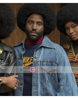 BlacKkKlansman John David Washington (Ron Stallworth) Blue Denim Jacket