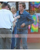 Brad Pitt Once Upon a Time in Hollywood Cliff Booth Blue Denim Jacket