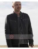 Breaking Bad Season 5 Aaron Paul Black Leather Jacket