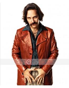 Brian Fantana Anchorman 2 Leather Blazer Coat