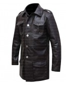 German Cafe Racer Brown Leather Blazer Coat