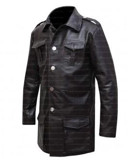 German Cafe Racer Brown Leather Blazer Coat