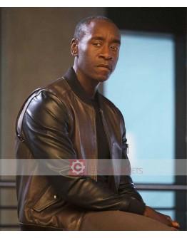 Captain America Civil War Don Cheadle Leather Jacket