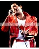 Freddie Mercury Red Leather Jacket