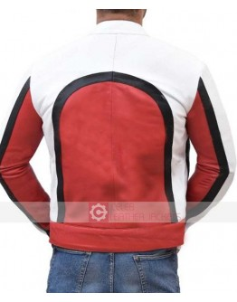 Freddie Mercury Bohemian Rhapsody Red And White Leather Jacket
