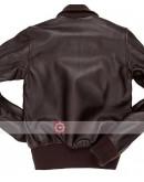Amelia Hilary Swank Bomber Leather Jacket