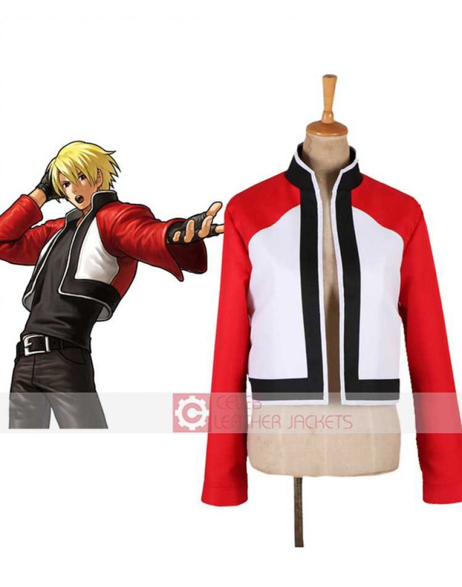 Buy Rock Howard King Of Fighters Leather Jacket Rock howard made his debut in the last chapter of the fatal fury series, garou: king of fighters xiv rock howard leather jacket