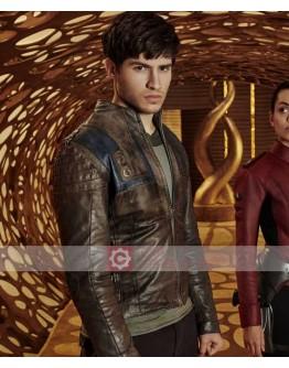 Krypton Seyg EL Superman TV Series Leather Jacket