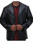 Mens Two Button Sheepskin Leather Blazer Jacket