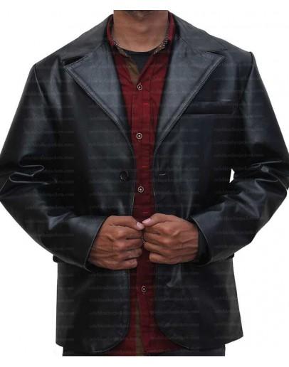 Mens Two Button Sheepskin Leather Blazer Jacket