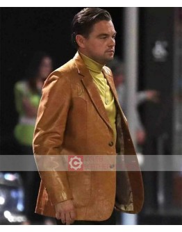 Once Upon a Time in Hollywood Leonardo DiCaprio Brown Leather Coat