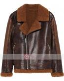WWE Dean Ambrose Shearling Leather Jacket