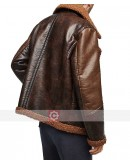 WWE Dean Ambrose Shearling Leather Jacket
