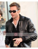 Real Steel Hugh Jackman Black Leather Jacket