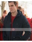 Riverdale K J Apa Blue Hoodie Jacket