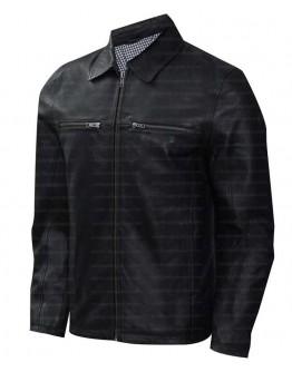 Cafe Racer Black Shirt Collar Leather Jacket