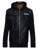 Sons Of Anarchy Woolen/Leather Hoodie With Patch