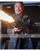 Terminator Dark Fate Arnold Schwarzenegger Leather Jacket