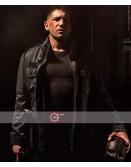 The Punisher Daredevil Jon Bernthal Black Leather Jacket