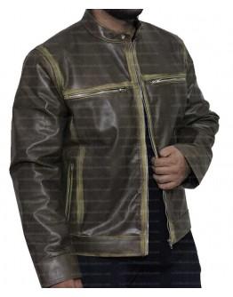 Vintage Cafe Racer Distressed Biker Leather Jacket