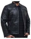 Cafe Racer Vintage Slim Fit Biker Leather Jacket