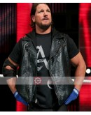 WWE AJ Styles Leather Vest