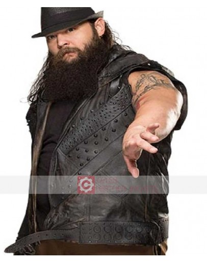 WWE Bray Wyatt Hoodie Leather Vest