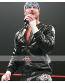 WWE Dolph Ziggler Varsity Leather Jacket