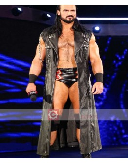 WWE Drew McIntyre Black Leather Coat