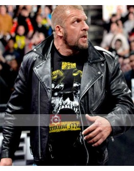 WWE Triple H Raw Biker Leather Jacket