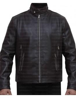 X-Men Cafe Racer Dark Brown Leather Jacket