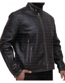 X-Men Cafe Racer Dark Brown Leather Jacket