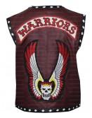 Warrior Burning Skull Costume Leather Vest