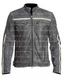 Affliction Cafe Racer Distressed Leather Jacket