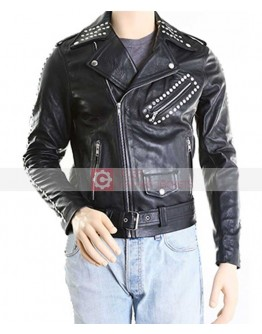 Justin Bieber All Around The World Studded Leather Jacket
