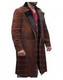 Atomic Blonde James McAvoy Fur Suede Coat