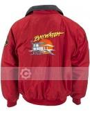 Baywatch Joseph David Hasselhoff Red Jacket