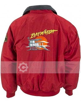 Baywatch Joseph David Hasselhoff Red Jacket