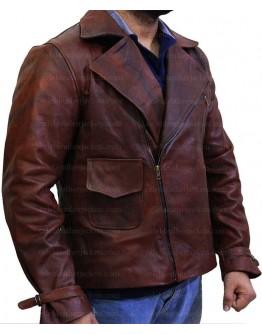 Captain America First Avenger Chris Evan Brown Leather Jacket