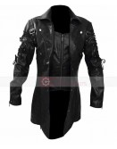 Steampunk Gothic Van Helsing Gothic Trench Synthetic Leather Coat