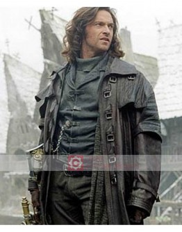 Van Helsing Hugh Jackman Leather Trench Costume Coat